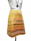 Audrey Skirt Thai Silk Taffeta Preppy Stripe