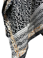 Silk Caftan Hand Embroidered Detail
