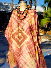 Silk Caftan Almost Famous Collection - Diamonds and Rust