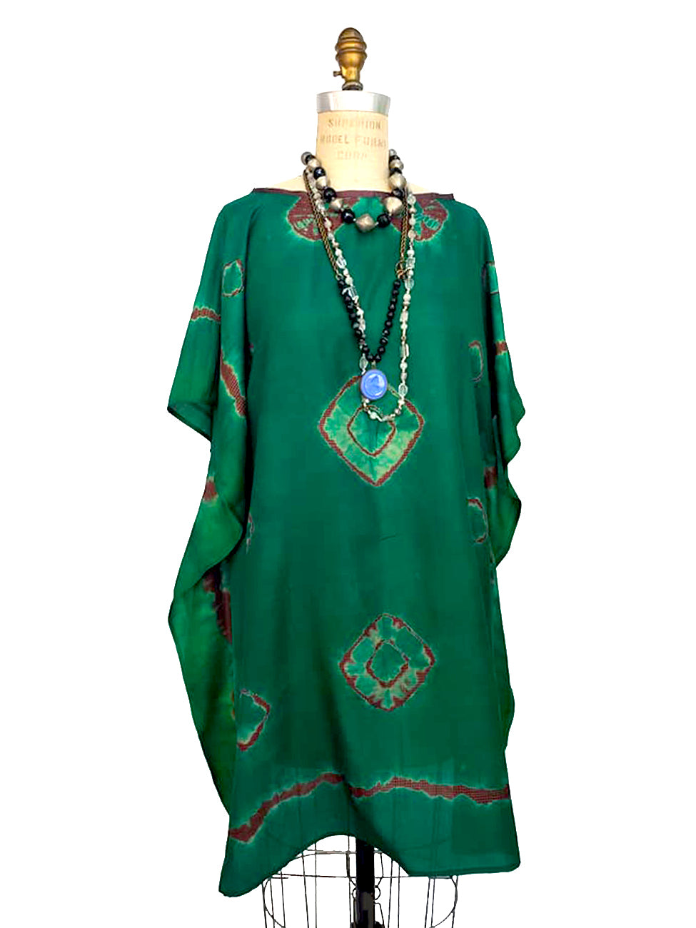 Silk Caftan Almost Famous Collection - Green Acres