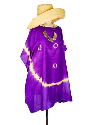 Silk Caftan Almost Famous Collection - Purple Rose of Cairo