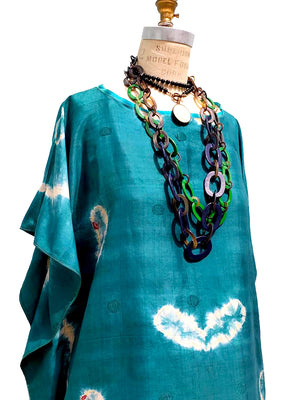 Silk Caftan Almost Famous Collection - Mediterraneo