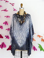 Silk Caftan Hand Painted Shibori Model 2