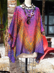 Silk Caftan Hand Painted Shibori Model 1
