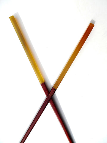 Chopsticks Rosewood And Mixed Horn 10Cm