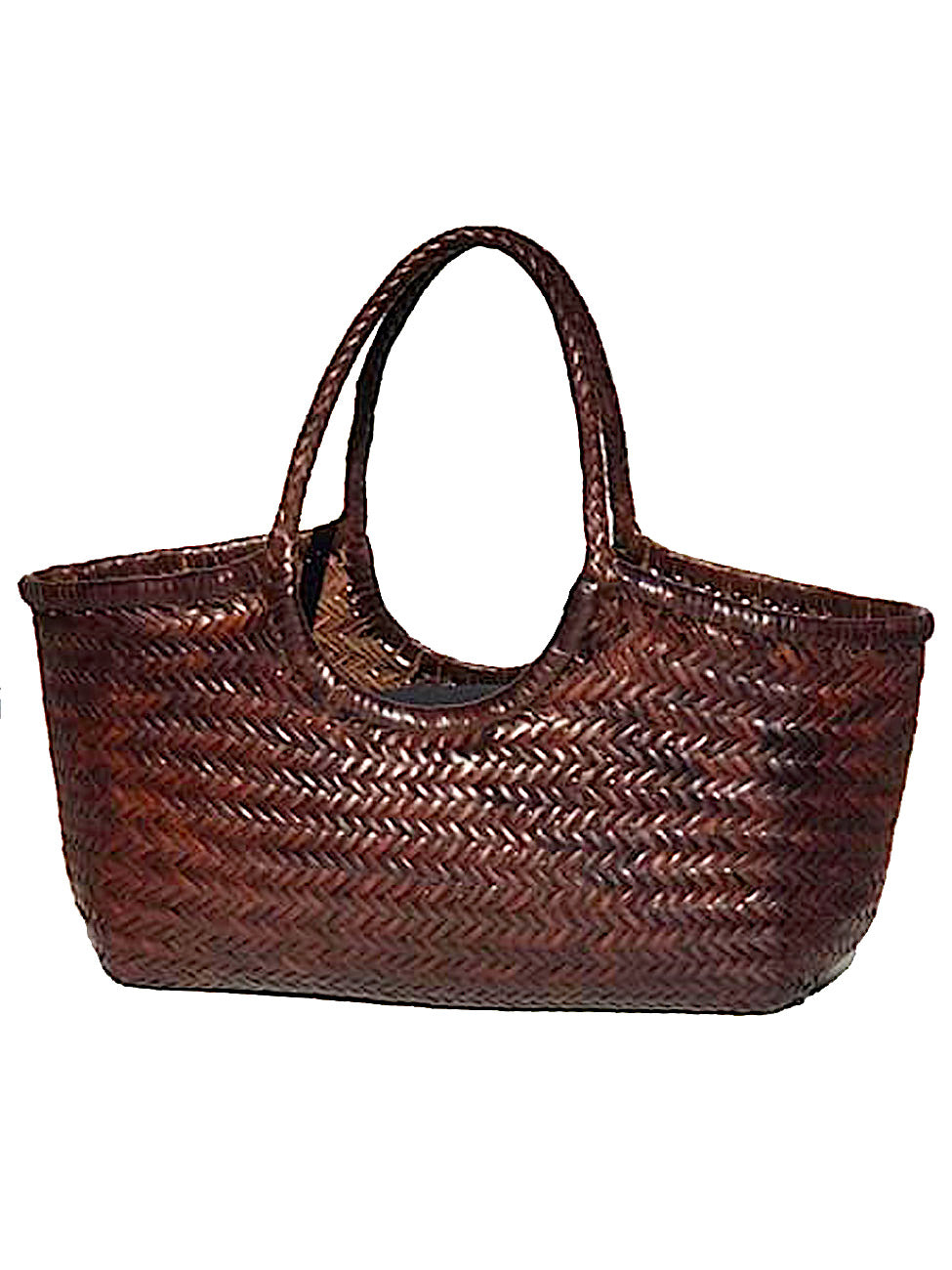 Woven Leather Nantucket Tote Bag