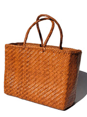 Woven Leather Medium Tote Bag