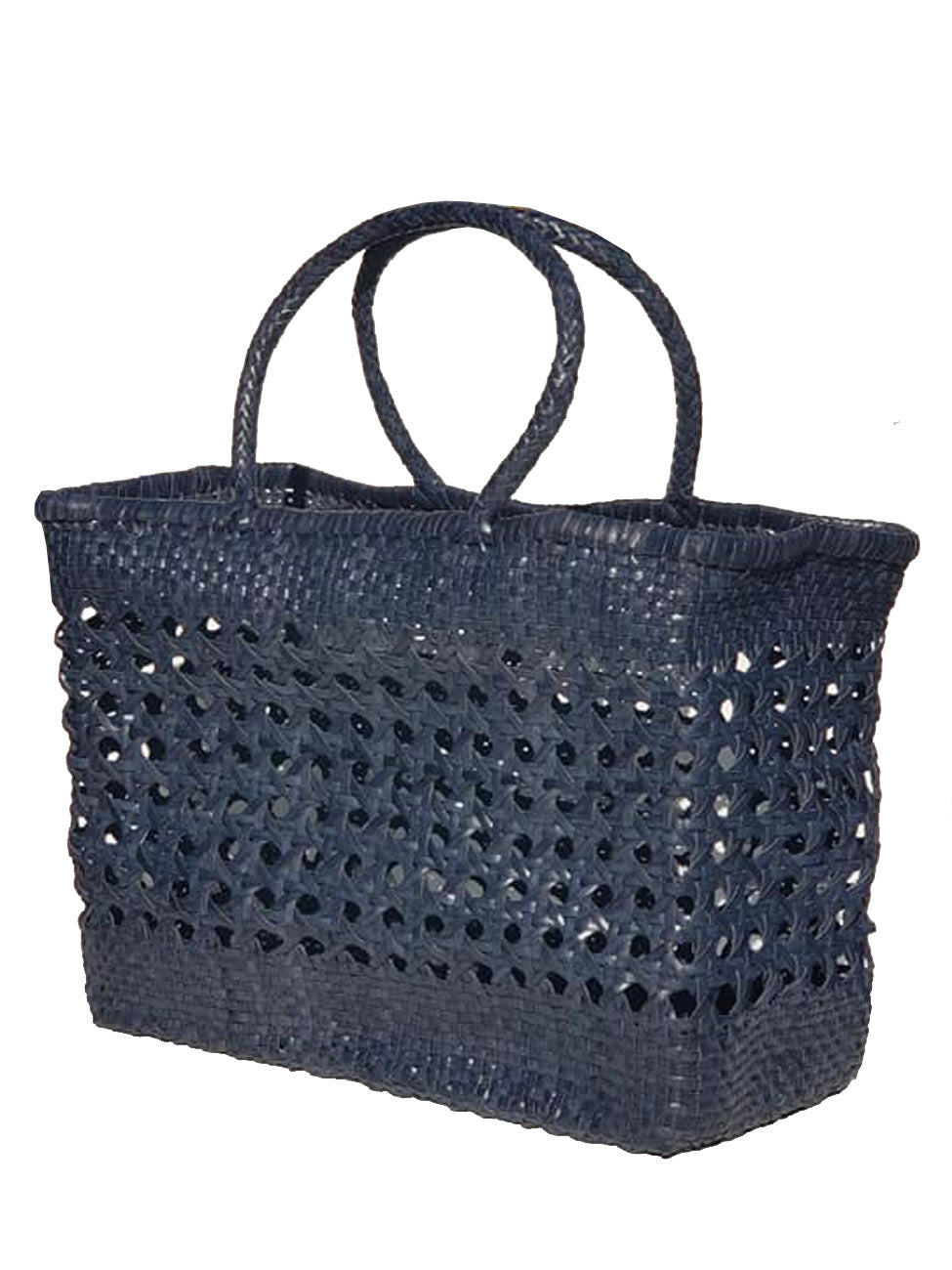 Woven Leather Large Tote Bag Wicker