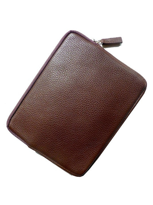 Ipad Case Pebble Grain Leather Chocolate