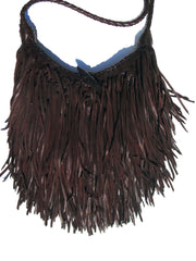 El Fleco Crossbody Fringe Bag Chocolate