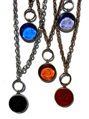 Necklace Intaglio Double Long Chain Italian Link