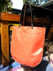 Flat Tote Nappa Leather