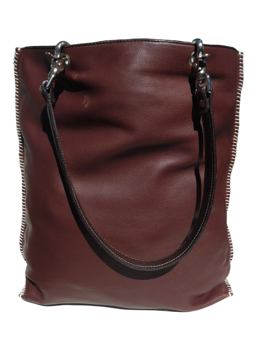 Gajumbo Tote Bag Butter Leather Chocolate