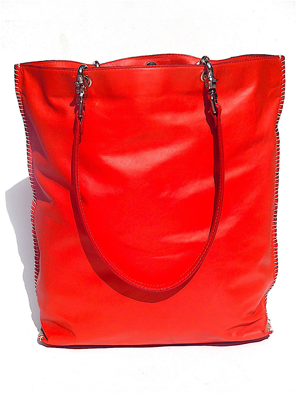 Gajumbo Tote Bag Napa Leather Red