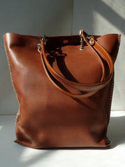 Gajumbo Tote Bag Pebble Grain Leather Tan