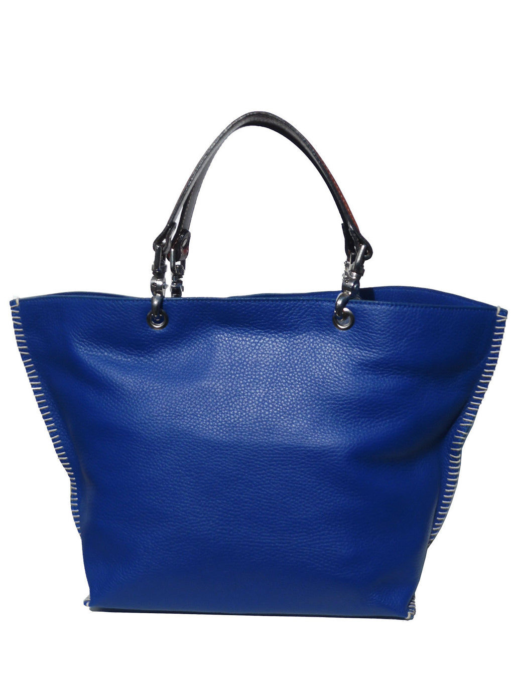 Gamidi 2 Tote In Pebble Grain Leather Cobalt Blue
