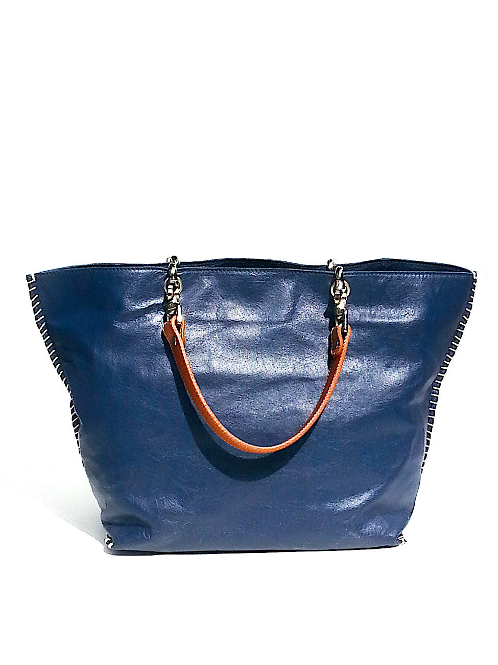 Gamidi 2 Tote Napa Leather Navy