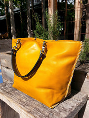Gamidi 2 Tote Napa Leather Saffron