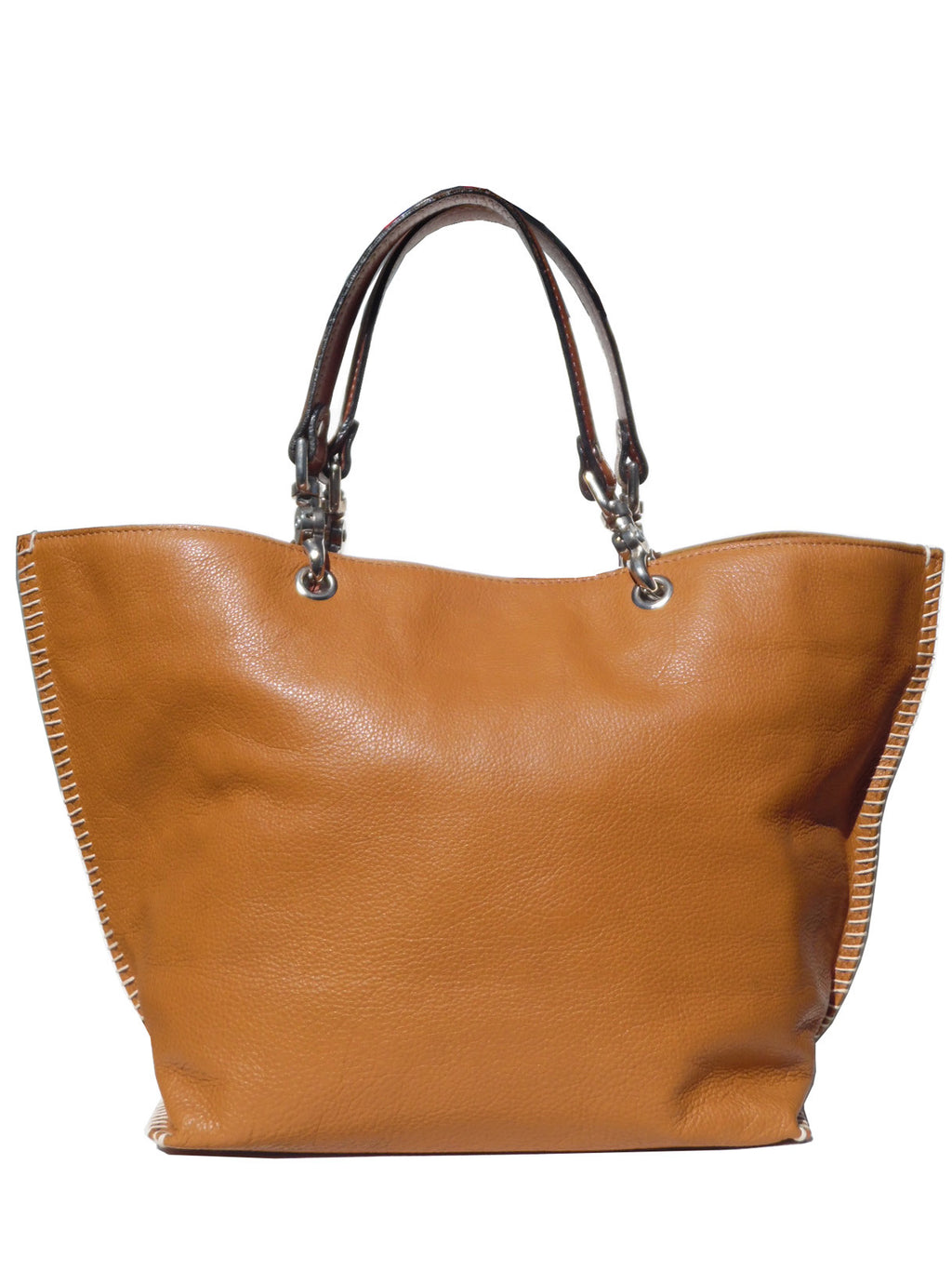 Gamidi 2 Tote Napa Leather Whiskey