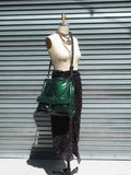 Gapock X Crossbody Travel Bag Patent Leather Bottle Green