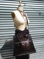 Gapock X Crossbody Travel Bag Patent Leather Wine