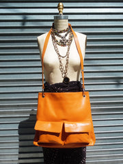 Gapock X Crossbody Bag Pebble Grain Orange