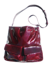 Gapock X Crossbody Travel Bag Patent Leather Black