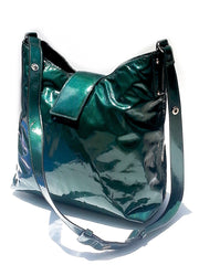 Hobo Crossbody Bag Patent Leather