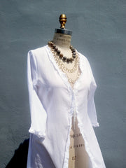 The Lala Beach Cover Up White