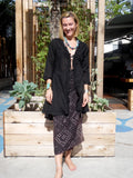 The Lala Beach Cover Up Black