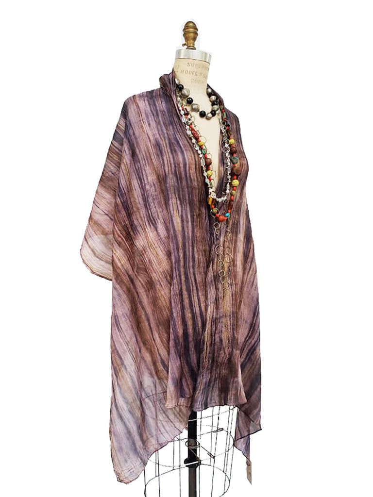 Shawl Hand Painted Silk Watercolor