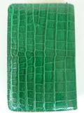 Crocodile Long Wallet Cerulean Or Luggage