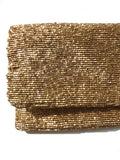 Beaded Evening Clutch Sparkly Beads Black Gold Silver Bronze