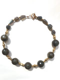 Necklace Labradorite And Vintage African Brass