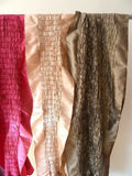 Opera Shawl Thai Silk Smocked Ruffled Golden Pewter