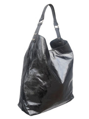 Pancho Hobo Bag Metallic Leather Anthracite