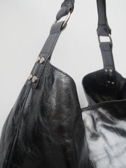 Pancho Hobo Bag Patent Leather Black