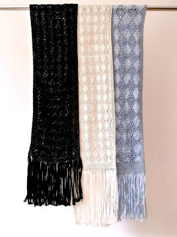 Silk Macrame Hand Knotted Scarf