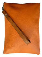 Zippered Pouch Clutch With Handle