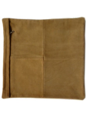 Cowhide Pillow In Mustard Color