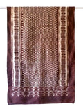 Silk Ikat Textile Wall Hanging Throw Chocolate Ivory