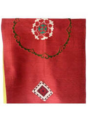 Table Runner Thai Silk Vintage Suzani Embroidery