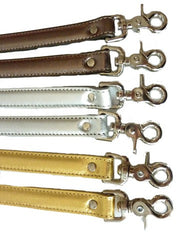 HANDLES LONG METALLIC LEATHER