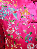 Hand Embroidered Silk Mandarin Evening Coat