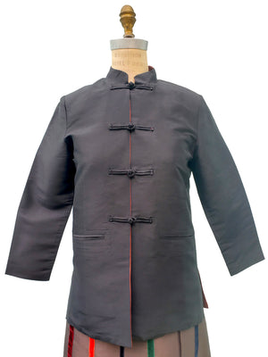 Thai Silk Mandarin Jacket