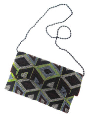 Beaded Envelope Evening Bag Mod Diamond
