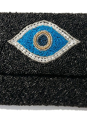 Beaded Envelope Clutch Bag Evil Eye and Hamsa