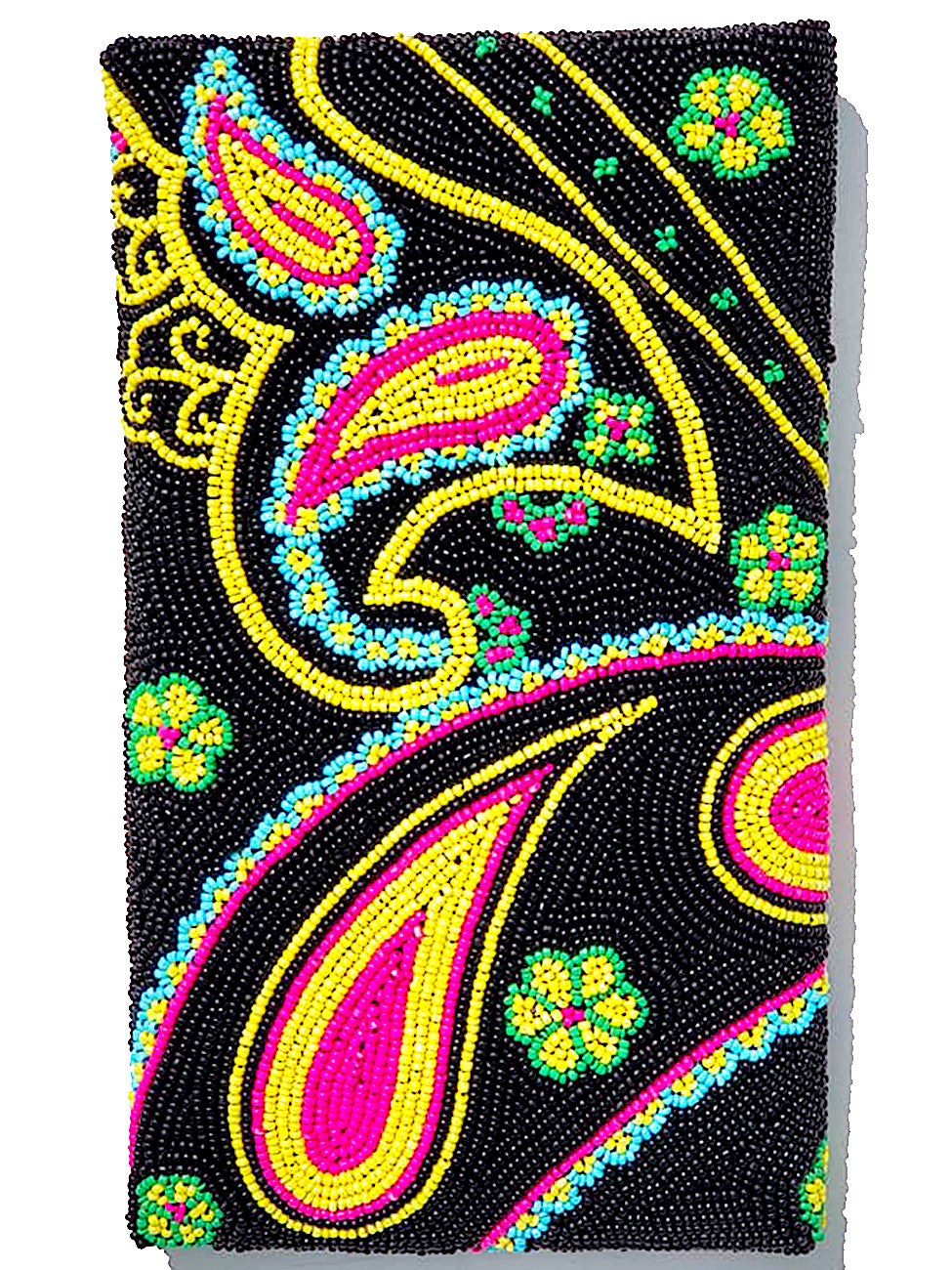 Beaded Envelope Evening Bag Bright Paisley