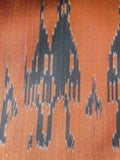 Silk Ikat Double Side Shawl Ancient Man on Copper