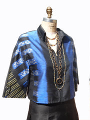 Modern Ikat Couture Cut Jacket Amethyst